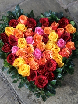 Mixed Rose Heart
